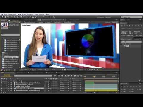 After Effects Tutorial: Digital Juice: Creating a greenscreen presenter animation in After Effects