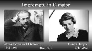 Chabrier: Impromptu, Doyen (1954) シャブリエ 即興曲 ドワイアン