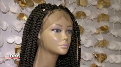 Woman designs free wigs for kids