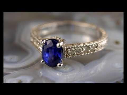 Супер красивые кольца с сапфиром 💍 новинки 2018