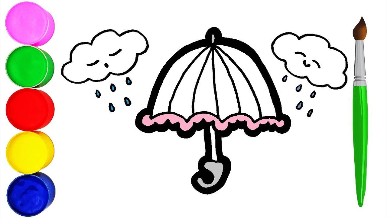 Regenschirm für Kinder Zeichnen und Malen für Kinder
