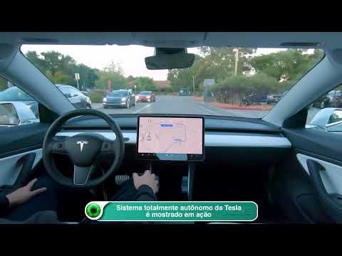 Sistema totalmente autônomo da Tesla é mostrado em ação