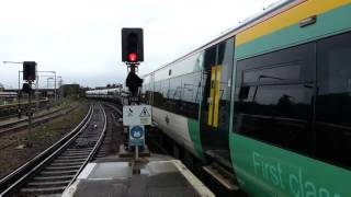 Trains at Eastbourne station (Javelin special)