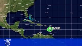 1951 Atlantic Hurricane Season Animation (Version 2)