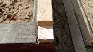 Баня 4 на 6 из бруса / Выложен цоколь из кирпича(Закончен первый этап строительства бани 4х6 из бруса 150 на 150 мм. http://masterdachi.ru/ Залит полностью ленточный фунда..., 2015-09-11T08:26:53.000Z)