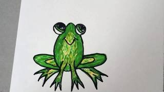 How to draw frog step by step easily for kids