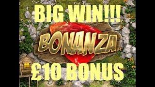 BONANZA BIG WIN!!! £10 BONUS Lucky Queens Again!!