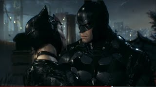 catwoman and batman kiss love scene batman arkham knight batman leaves selina bruce wayne kiss