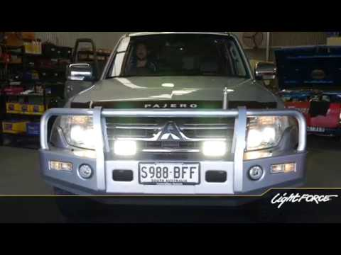 Mitsubishi Pajero  –  Not H4 or HB3 headlight globes Lightforce DIY Install