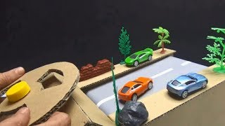 Racing Game DIY - How to make Race Car Track Game from Cardb...
