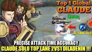 PRECISE ACCURACY | Ini Claude Terbaik Fix, Control Skillnya Gila Abis!!! - Top 1 Global Claude Z̶eus