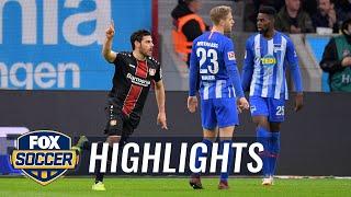 Bayer Leverkusen vs. Hertha BSC Berlin | 2018-19 Bundesliga Highlights