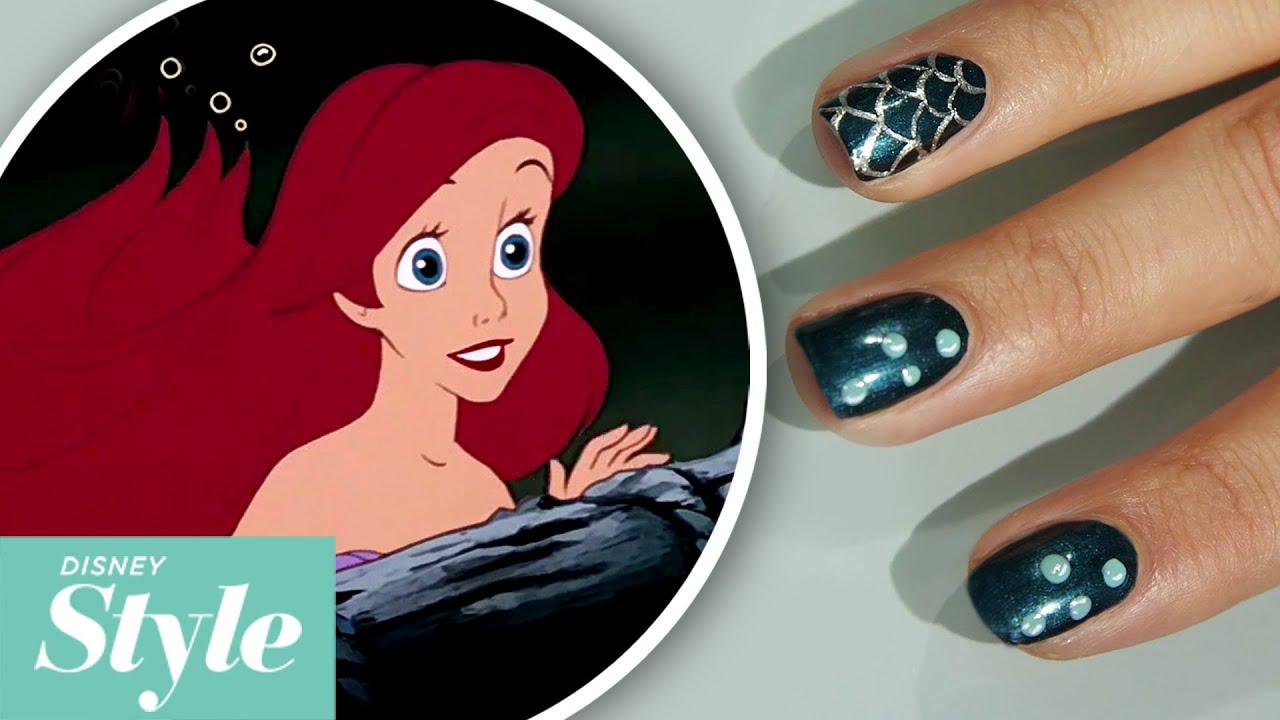 Little Mermaid Under Sea Nail Art Tutorial Disney Style