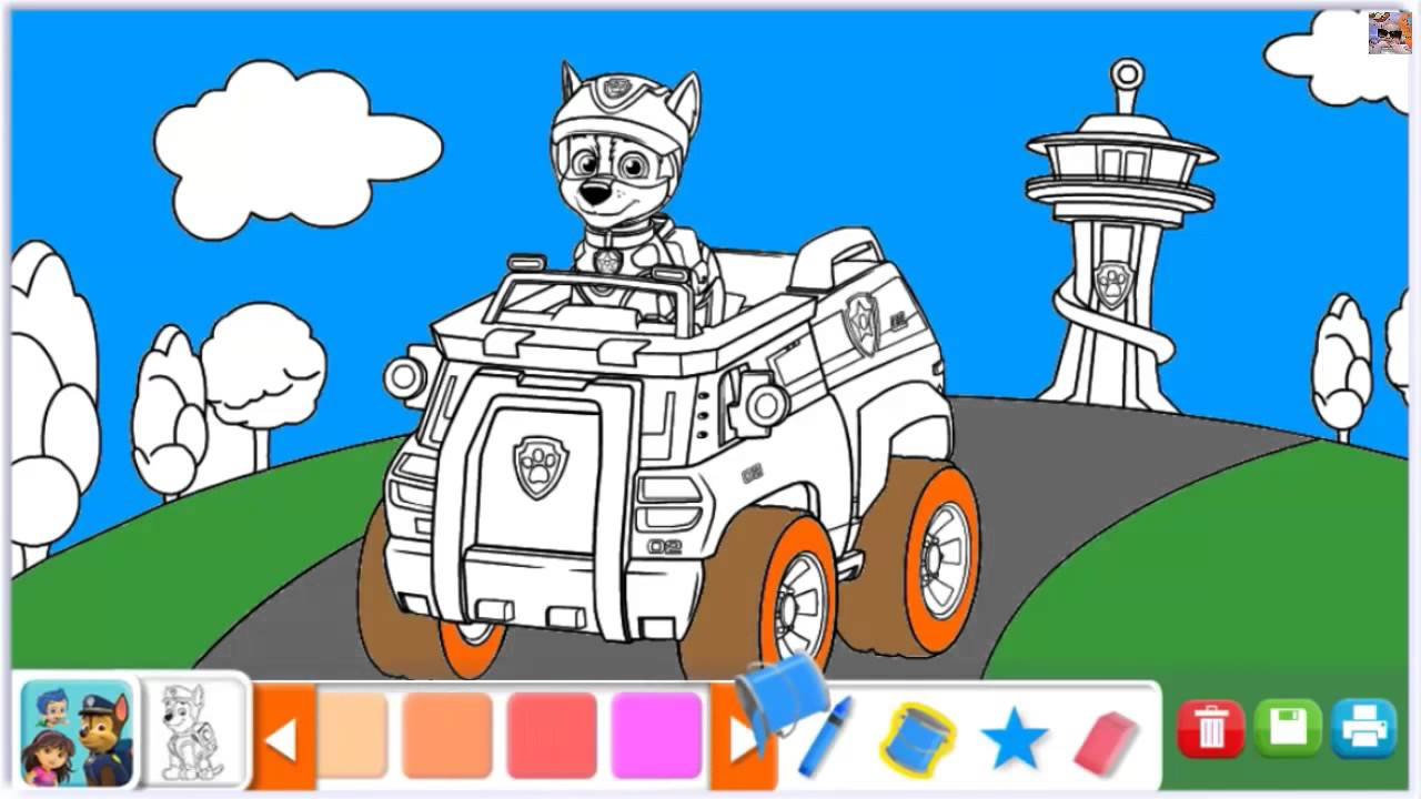 Paw Patrol Coloring Pages Blaze