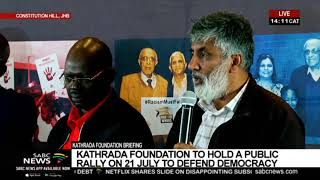 Ahmed Kathrada Foundation Media Briefing