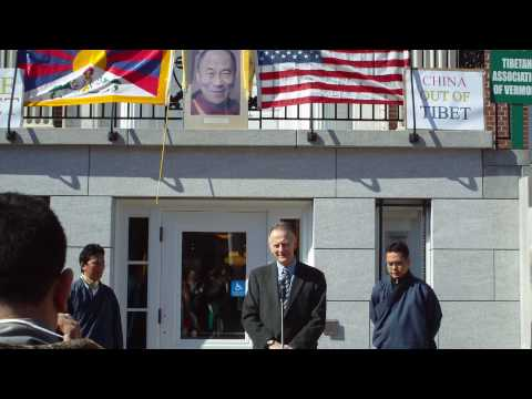 Burlington Mayor Bob Kiss speech on Tibetan Uprising Day, VT
