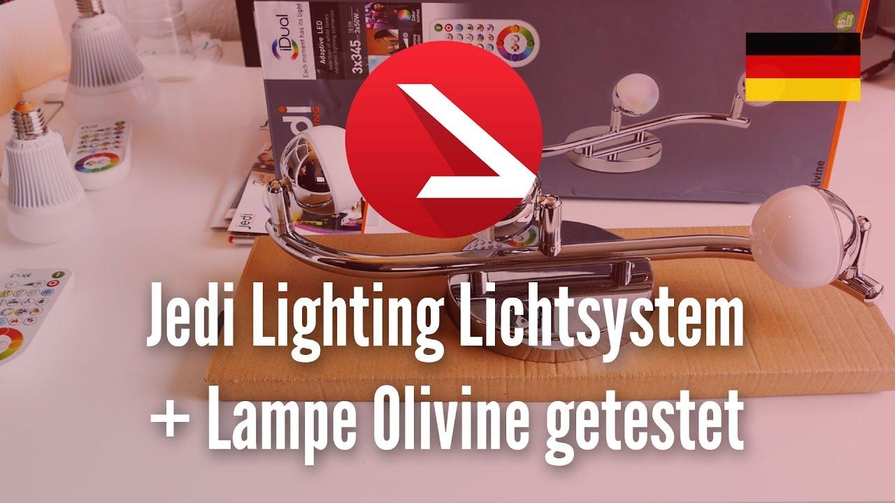 jedi lighting lichtsystem farbwechsel led gl hbirnen lampe olivine ausgepackt und getestet. Black Bedroom Furniture Sets. Home Design Ideas