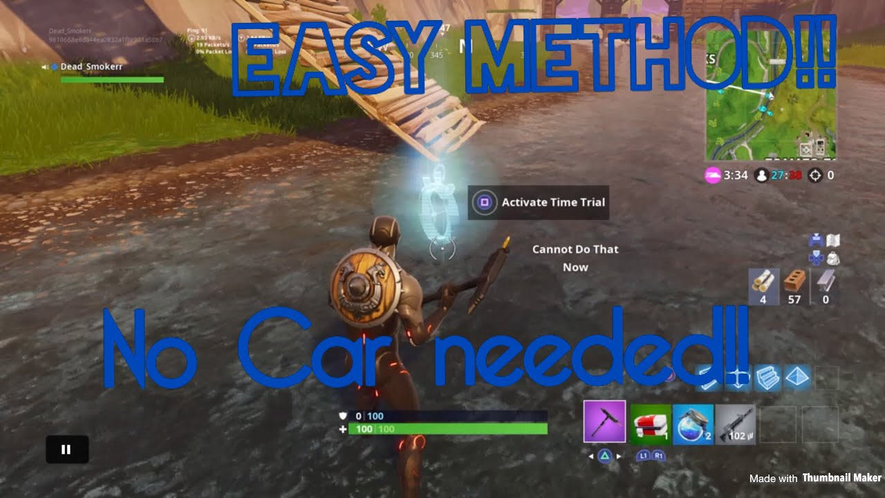 Fortnite How To Do The Timed Trial 5th One Beside Tomato Town Easy