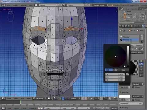 3D BLENDER- MODELING WAJAH-1