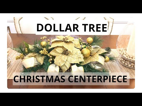 DOLLAR TREE CHRISTMAS CENTERPIECE DIY 2018