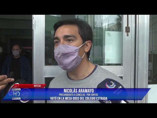 Nicolás Aramayo Votó en la mesa 0003 del Colegio Estrada