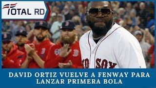 David Ortiz vuelve a Fenway para lanzar primera bola