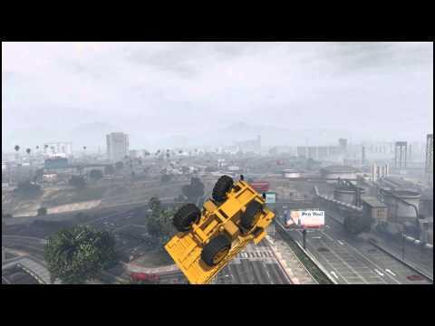 GTA 5 - Dumptruck Corkscrew Stunt