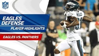 Philly's Defense Racks Up 3 INTs & 2 Sacks! | Eagles vs. Panthers | Wk 6 Player Highlights
