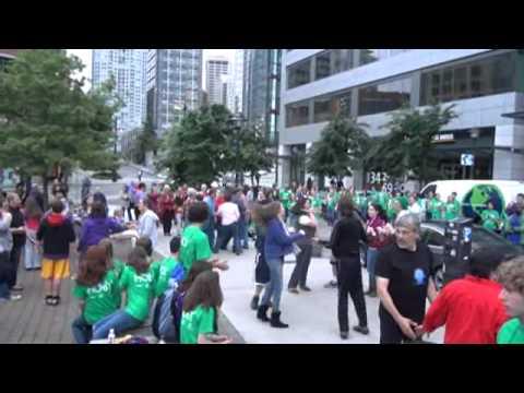 square dance flash mob seattle