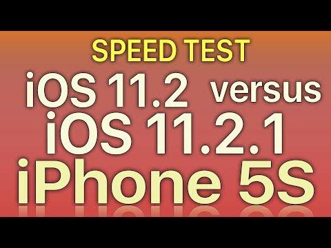 iPhone 5S : iOS 11.2 vs iOS 11.2.1 Speed Test Build 15C153 - 동영상