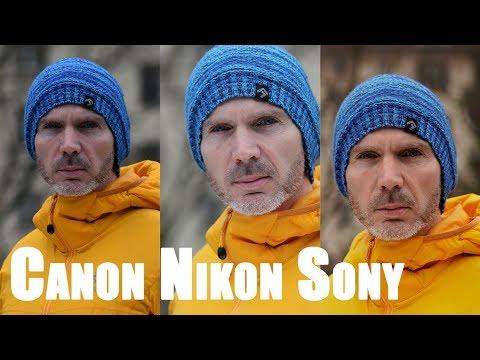 Hauttöne Sony vs Canon vs Nikon
