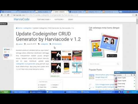 Harviacode Codeigniter CRUD Generator - YouTube