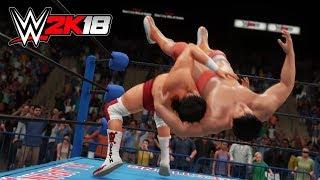 WWE 2K18 CAW 小橋建太 vs スティーブ・ウィリアムス - Kenta Kobashi vs Steve Williams