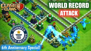 WORLD RECORD BEST ATTACK EVER IN CLASH OF CLANS HISTORY ✔