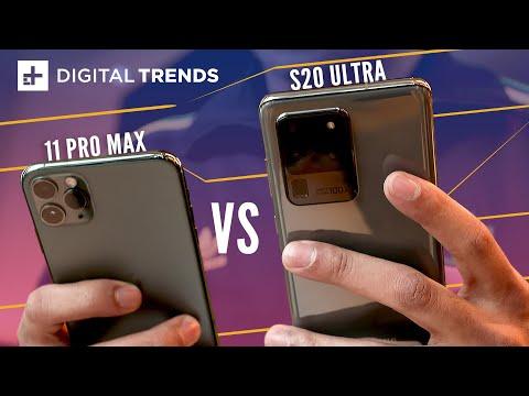 Samsung Galaxy S20 Ultra vs. Apple iPhone 11 Pro Max