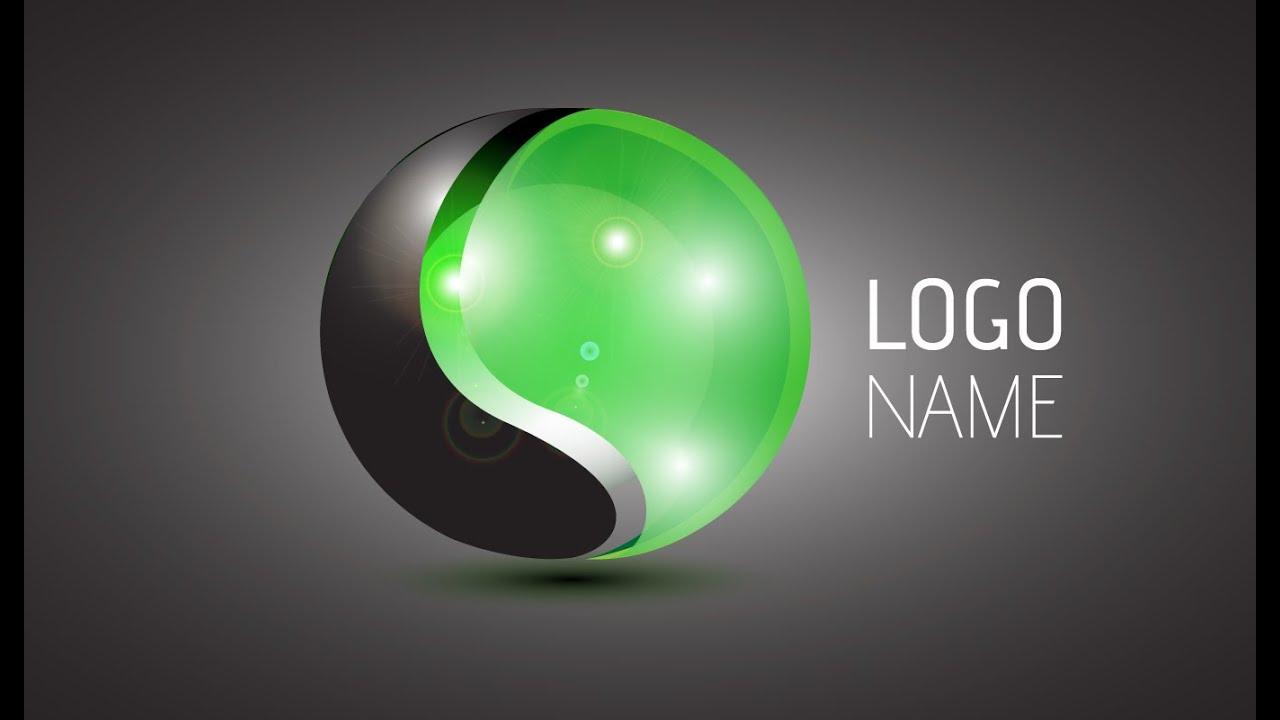 Adobe Illustrator CC : 3D Logo Design Tutorial (Rondure) - YouTube