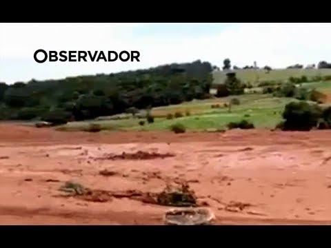 Novo rio de lama deixa rasto de tragédia no Brasil