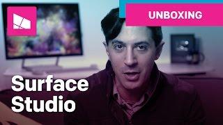 microsoft surface studio unboxing