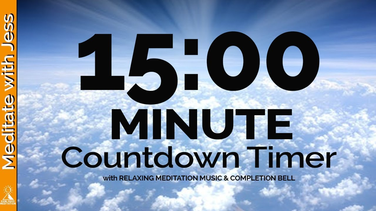15 Minute MEDITATION Countdown Timer QUIET YOUR MIND with Relaxing Music &  Completion Bell