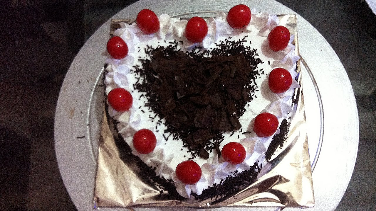 Heart Shape Cake Decoration At Home : Heart Shape Black Forest Cake Made at Home - YouTube