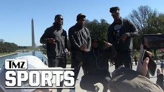 Cowboys Players Enjoy Washington D.C. After Visiting Afican American Museum | TMZ Sports