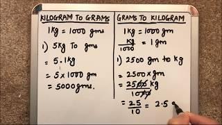 HOW TO CONVERT ( KILOGRAMS TO GRAMS )AND (GRAMS TO KILOGRAMS)