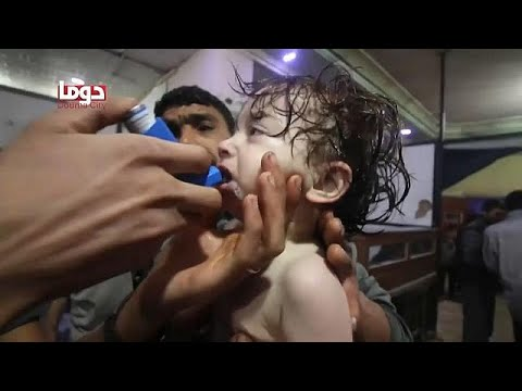 Disaster in Douma - Charity says signs of chemical attack cl