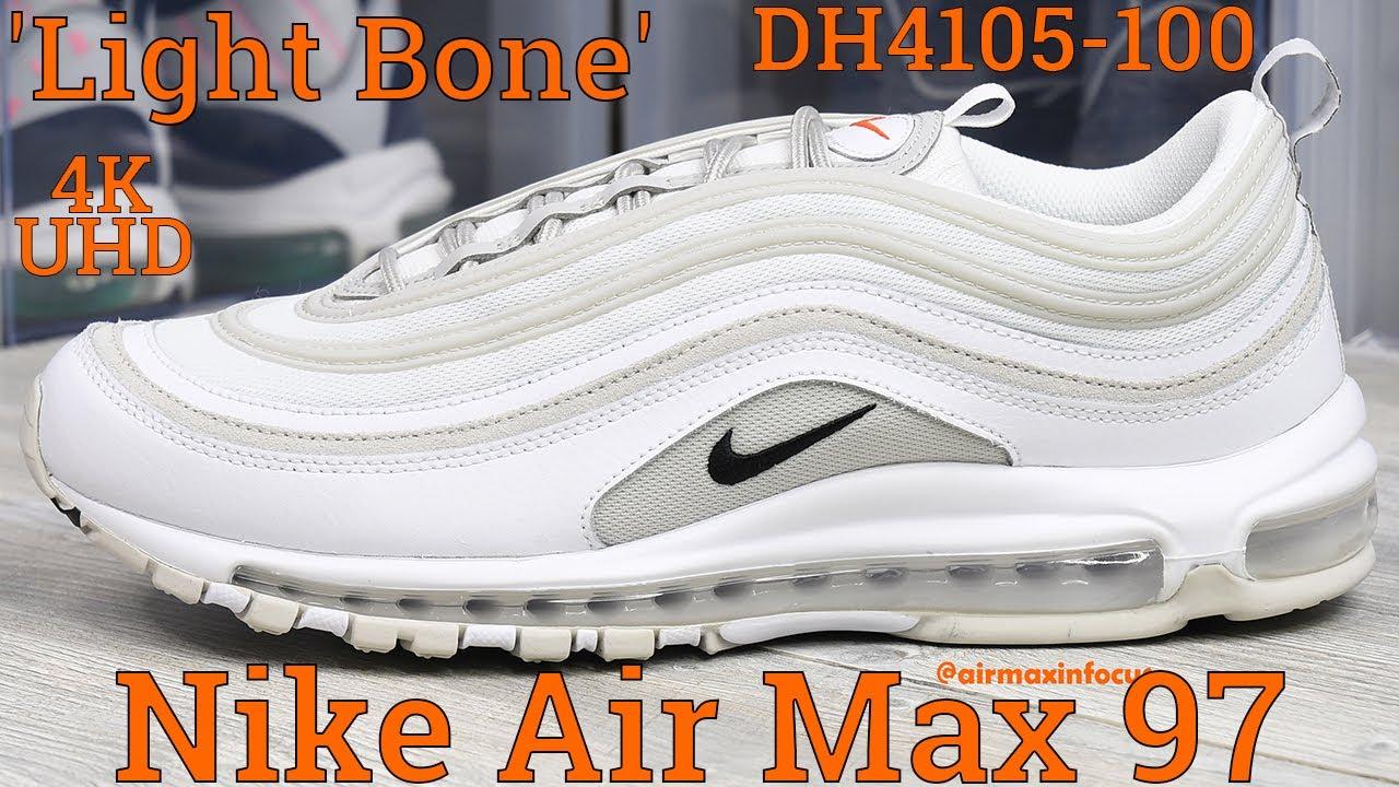 [4K] Nike Air Max 97 'Light Bone' A Detailed Look & Review! (2021) DH4105-100 Black White Orange