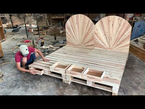 diy---amazing-how-to-build-a-king-size-pallet-bed-extremely-simple-and-beautiful-//-woodworking