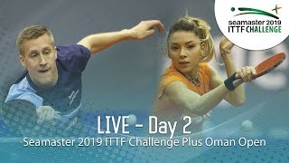 Seamaster 2019 ITTF Challenge Plus Oman Open | Day 2 | Session 2