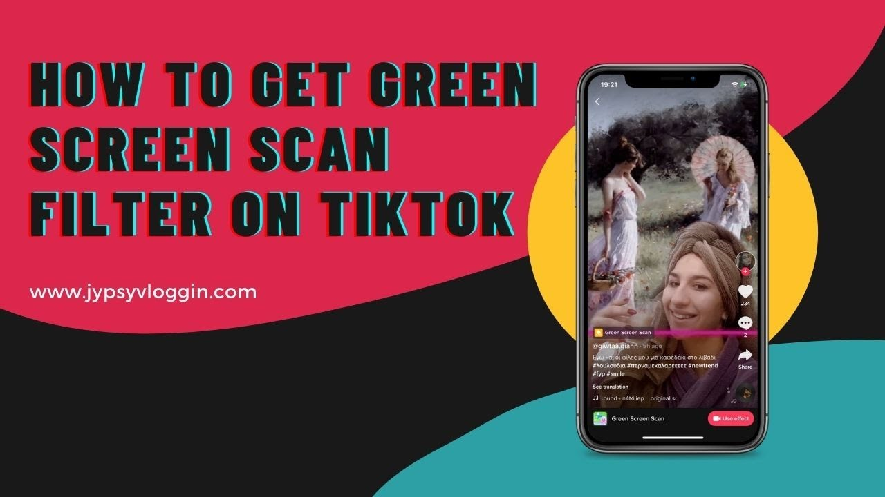 How To Get The Green Screen Scan Filter On Tiktok Youtube