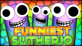 CRAZY FUNNY SNAKES - THE FUNNIEST SLITHER SNAKE VIDEO EVER!! (SLITHER.IO / SLITHERIO #11)