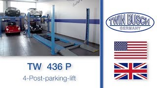TW 436 P : 4-Post-parking-lift from TWIN BUSCH ®