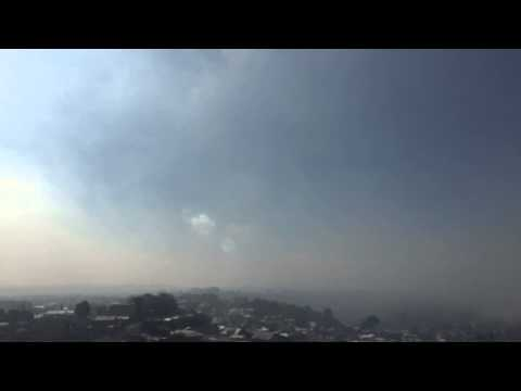 Calbuco volcano, day 2 ashes in Puerto Montt city